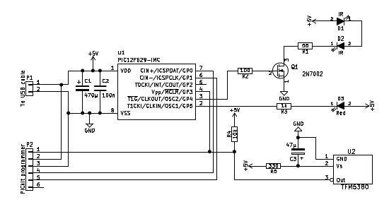 Ir Repeater Circuit Diagram   Sb Projects Projects Ir Repeater